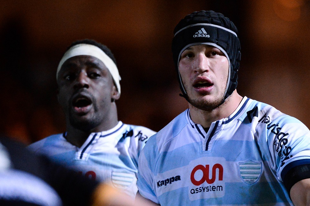 Wenceslas LAURET / Yannick NYANGA - 12.12.2015 - Racing 92 / Northampton - European Rugby Champions Cup Photo : Nolwenn Le Gouic / Icon Sport